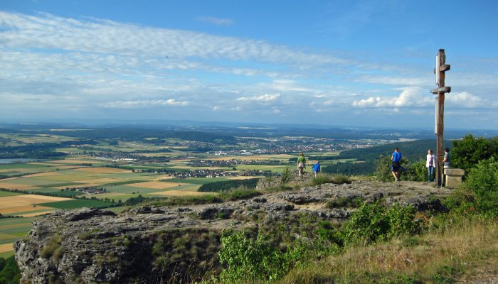 Der Staffelberg, Berg der Franken, Blick Richtung Lichtenfels.
